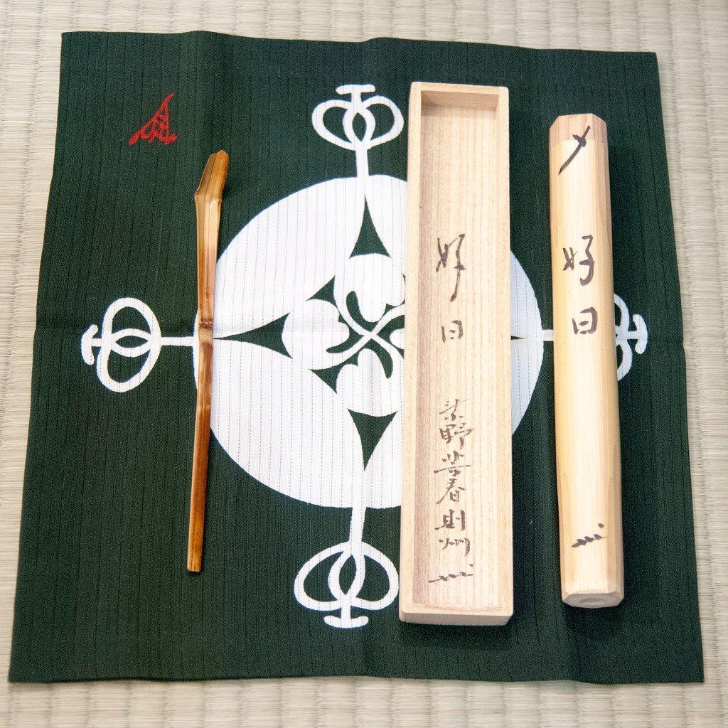 Japanese aesthetic tea scoop